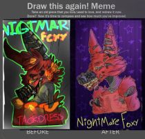 NghtMare Foxy (FNAF 4) Re-Draw by TackyDress