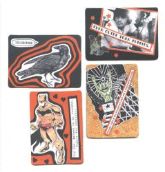 ATCs in Orange by MuseumGirl