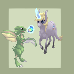 [G] Kami and Scyther by Messenger-Pigeon