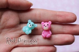 micro teddys by theredprincess