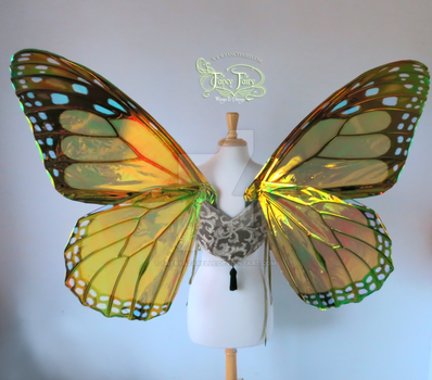 Extra Large Monarch Iridescent Wings (back) by FaeryAzarelle