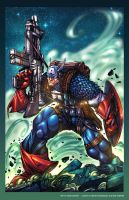 Captain America 01 Color by RobDuenas