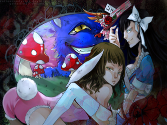 collab: We're all mad here. by godzilla23