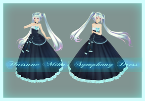 [MMD] Miku's Symphony Dress [CLOSED] by AyaneFoxey