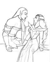 Lotor and Allura Pencil Rough by ZejanNoSaru