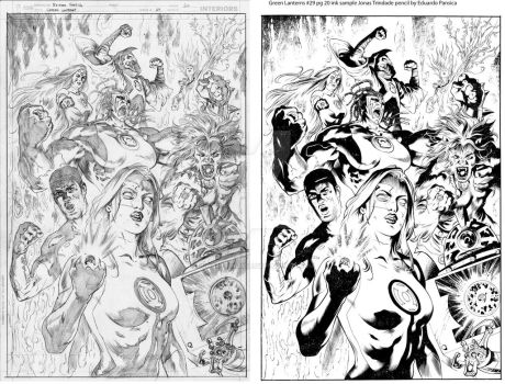Green Lanterns29 pg20  ink sample Jonas Trindade by JonasTrindade