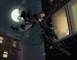 Batman and Catwoman by theDougArthur
