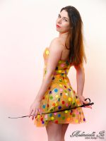 Mademoiselle Ilo - Ladybird latex dress - Model Ib by Mademoiselle-Ilo