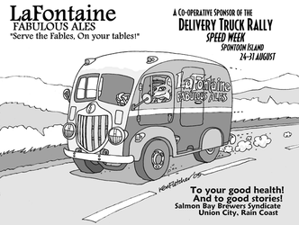LaFontaine Ale and Beer : Delivery Truck : 1930s by KenFletcher