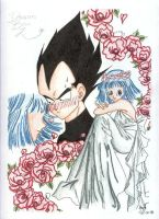 Bulma and Vegeta Married by psychosaiyajin