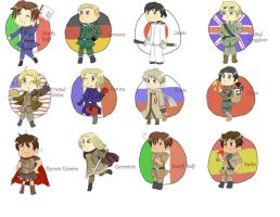 Hetalia Chibis by JessicaBlood