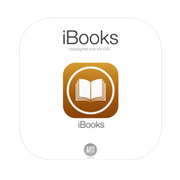 Apple iBooks new icon for iOS7 by ARTIFACTdesign
