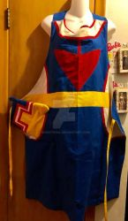 All Might Apron and Pot Holder by snowtigra