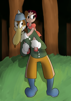 A little stroll in the woods (colored) by AnneMate