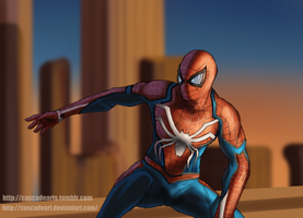 Spider-man PS4 by cascadeart