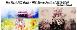 [PSD Pack] The first PSD Pack - HEC Korea Festival by pasyuks9b6