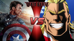 Death Battle: Captain America vs All Might by lightyearpig