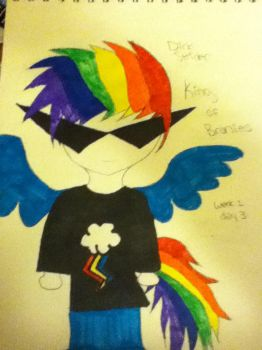 Homestuck 3 week art challenge Week: 1 Day: 3 by pallettribunegirl