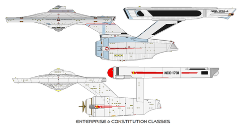 Enterprise and Constitution Classes 2 by adrasil