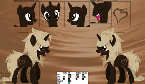 Chipped Dream- Official Character Ref by CobaltTheFox