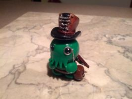 Little Fat Steampunk Cthulhu with Corset Hat by FatDragonArtworks