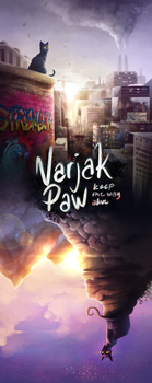 Varjak Paw (Fake Movie Poster) by MeggisCat