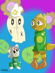 PainlyTale Monster KID Temmie and Blooky by TIXIXX
