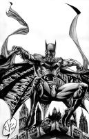 BatMan Black and White by RudyVasquez