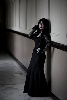 Black is such a happy color - Morticia cosplay by Voldiesama