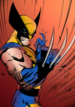 Wolverine   Inks By J Skipper-d72qtdv Cores Bamboo by miguelrude