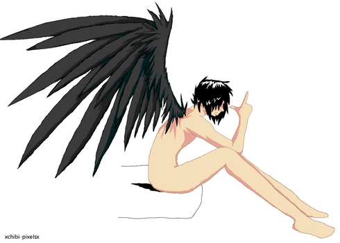 Emo Angel Boy - Base 2 by xChibi-Pixelsx