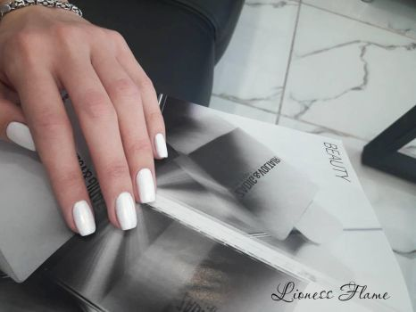 White nails by LionessFlame