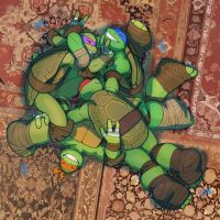 Rough and Tumble Turtle Pile by WinterHeath