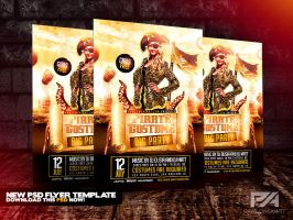 Pirate Costume Party PSD Flyer Template by pawlowskiart