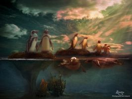 Pengu Islands by LheenasArtwork