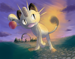 Meowth - LNX Collaboration by nintendo-jr
