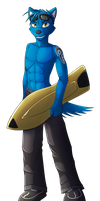 Surfing Rex (Commission) by Lord-Kiyo
