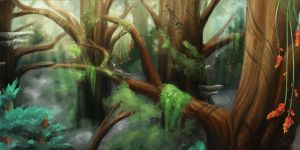 Middle Canopy Rough Concept by CherryRiceSammich