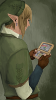 Link Playing Ocarina of Time by sheiktxt