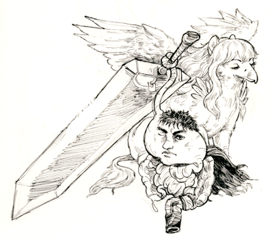 Guts and Griffith, Literally by ohsnap-son