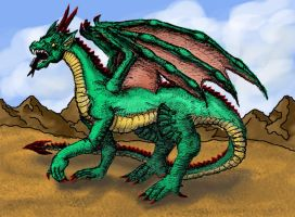 2004 - My First Serious Dragon in Color by Smartache