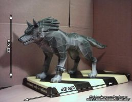 Twilight Princess Wolf Link by ninjatoespapercraft