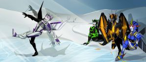 C: Maz, Flasback, Cybree and Sundrown by I-Muria-I