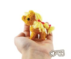 Filly Applejack Amigurumi by mengymenagerie