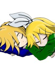 Sleeping Rin and Len Kagamine Line Art Coloring by MNSVocaloid