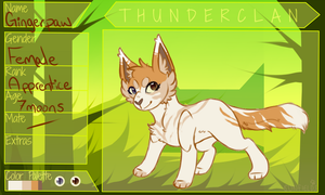 :DWW: Gingerpaw by BentSpoons