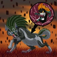 Wolf Link Vores Imp Midna by Goldy--Gry