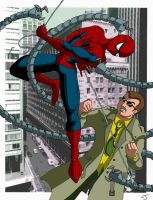 Spidey VS Ock by coldangel1