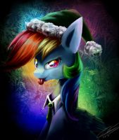 Rainbow Little Helper (Winter Manes) by elec-trixxx