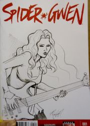 Spider Gwen Sketch Cover by DocRedfield